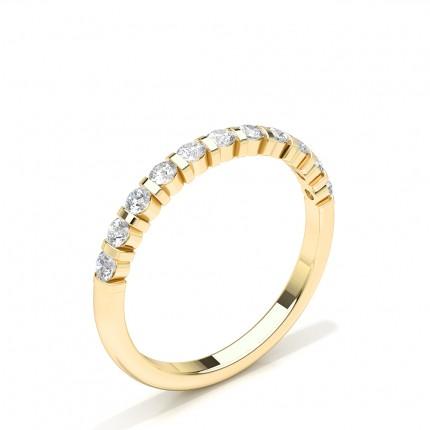 Diamant besetztes Ehering der halben Ewigkeit