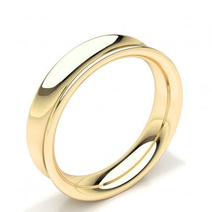Concave Profile Mens Plain Wedding Band