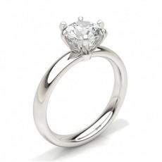 Runder Diamant Solitär Verlobungsring