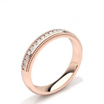 Diamant besetzt Milgrain Design Damen Ehering besetzt