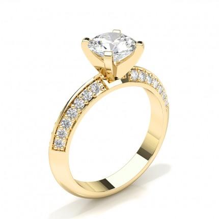 Prong Set Diamond Womens Engagement Ring