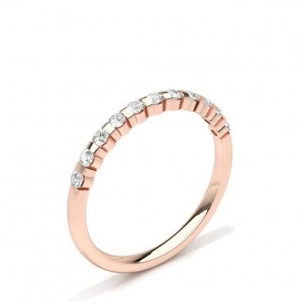 Kanal Set Runde Diamant Damen Ehering