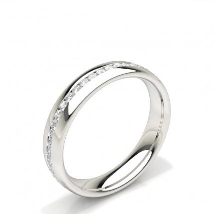 Channel Set Diamond Comfirt Fit Womens Wedding Ring