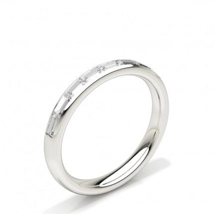 Kanal Set Baguette Diamant Komfort fit Damen Ehering