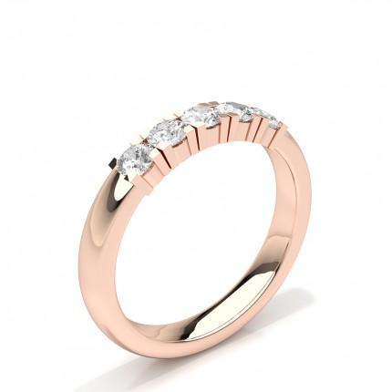 Prong Set Round Diamond Five Stone Womens Wedding Ring