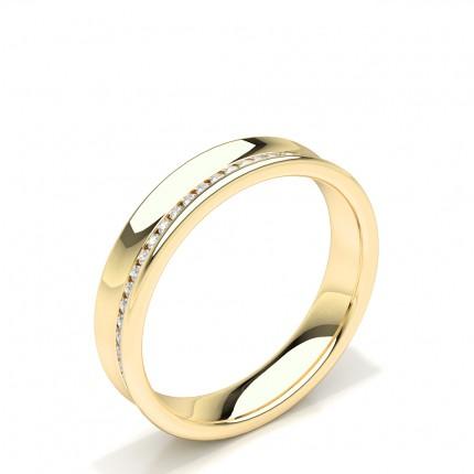 Channel Set Round Diamond Womens Wedding Ring
