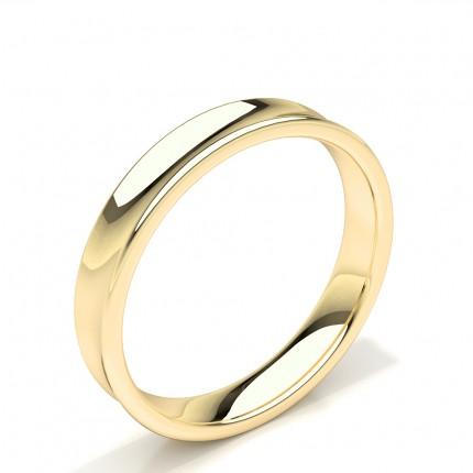 Konkaves Profil Einfach Herren Ehering