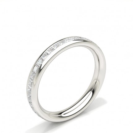 Channel Set Princess Diamond Womens Wedding Ring