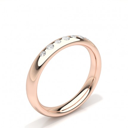 Flush Setting Round Diamond Womens Wedding Ring