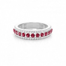 White Gold Ruby Rings