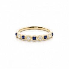 Gelbgold Saphir Diamantringe