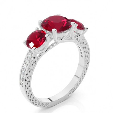 Prong Setting Round Ruby Vintage Ring