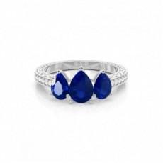 Pear Gemstone Engagement Rings