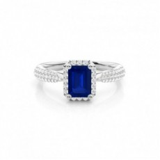 White Gold Sapphire Rings