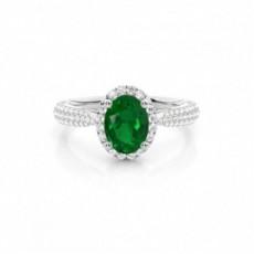 Oval Smaragd Verlobungsringe