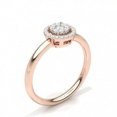 Rose Gold Diamond Cluster Rings