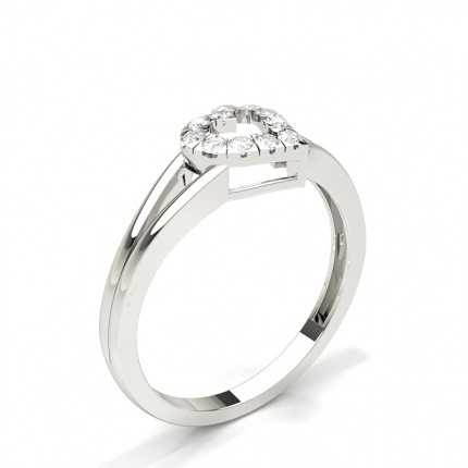 Micro Prong Setting Round Cluster Ring