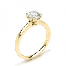 Yellow Gold Solitaire Diamond Rings