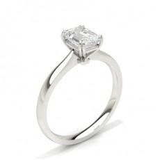 Emerald Solitaire Diamond Rings