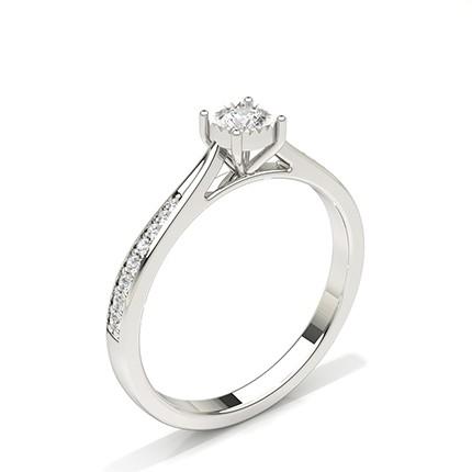 Illusionsplatte Runde Seite Stein Diamant Verlobungsring