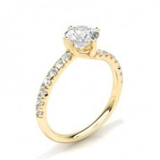 Gelbgold Seitensteine Verlobungsringe