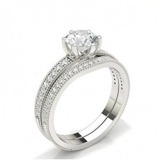 Tropfen Schulter Diamanten mit passendem Verlobungsringe