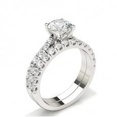 Radiant Schulter Diamanten mit passendem Verlobungsringe