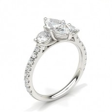 Marquise Schliff Diamond Rings Three Stone