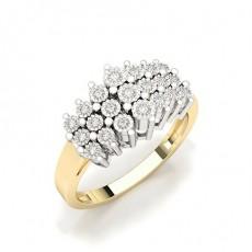 Illusionsplatte Einstellung Runder Diamant Fashion Ring