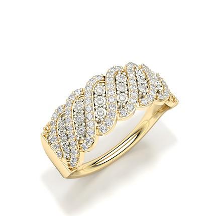 Illusion Plate Setting Round Diamond Fashion Ring