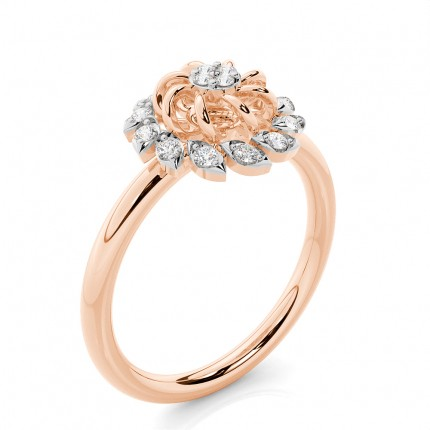 Prong Setting Round Diamond Everyday Ring