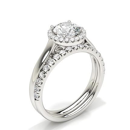 Diamant-Verlobungsring aus Weißgold für Brautpaare