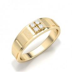 Yellow Gold Men's Diamond Rings