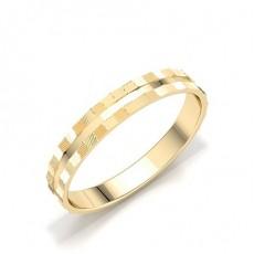 Women's Round Plain Wedding Rings