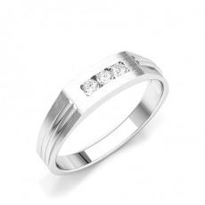 Platinum Men's Diamonds Rings