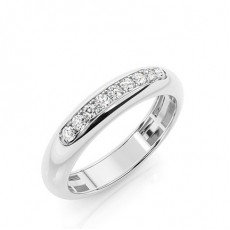 Platin Trauringe mit Diamant