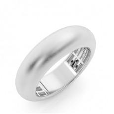 Men's Round Plain Wedding Rings